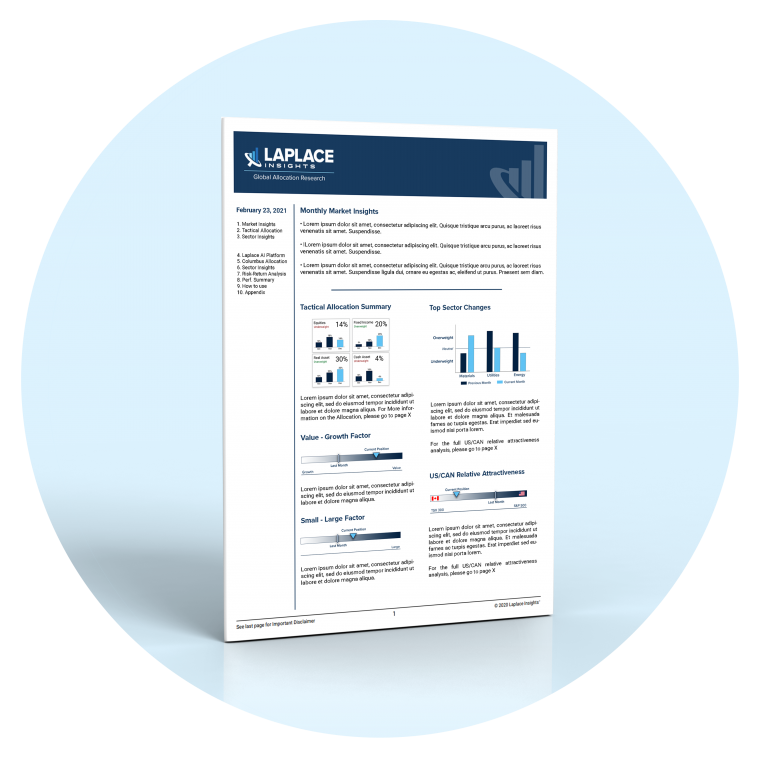 Image of Investment Report from Laplace Insights